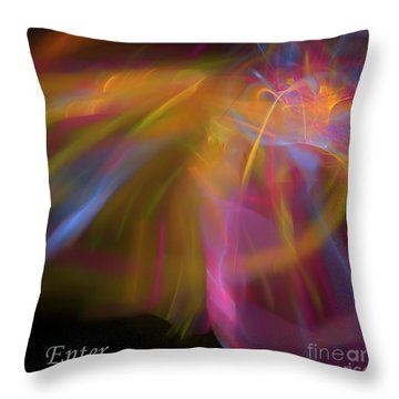 Throw Pillow featuring the digital art Enter by Margie Chapman