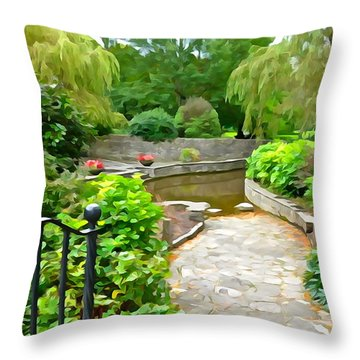Enter The Garden Throw Pillow by Charlie and Norma Brock