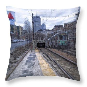 Enter The Tunnel Throw Pillow