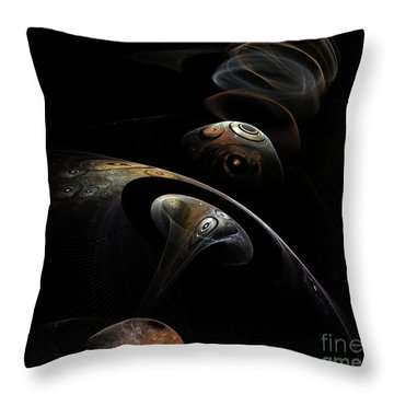 Entering 2102 Throw Pillow by Peter R Nicholls