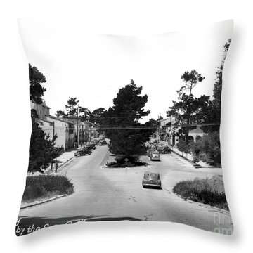 Entering Carmel By The Sea Calif. Circa 1945 Throw Pillow