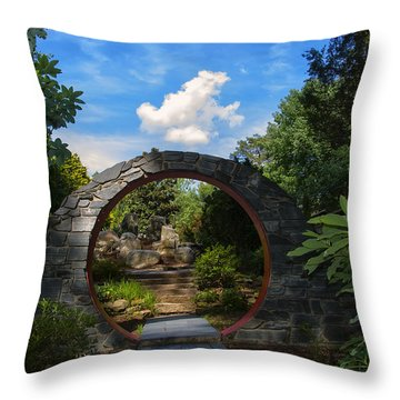 Entering The Garden Gate Throw Pillow