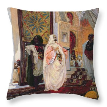 Entering The Harem Throw Pillow by Georges Clairin