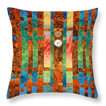 Entering The Temple Throw Pillow