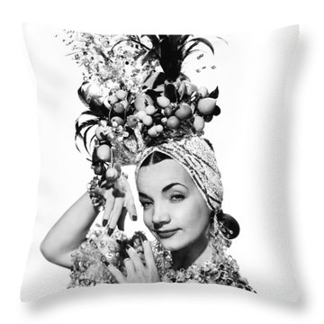 Entertainer Carmen Miranda Throw Pillow