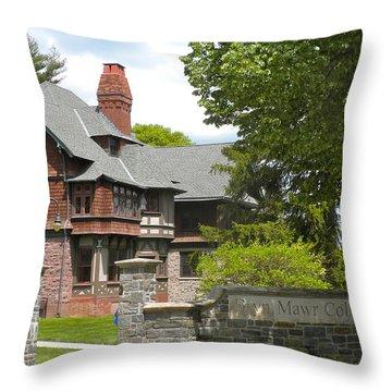 Bryn Mawr College Throw Pillow