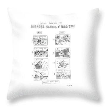 Entrance Exam For The Mildred School Of Medicine Throw Pillow