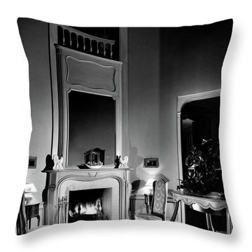 Entrance Hall Of Joan Bennett And Walter Wagner's Throw Pillow