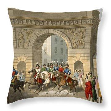 Entrance Of The Allies Into Paris Throw Pillow
