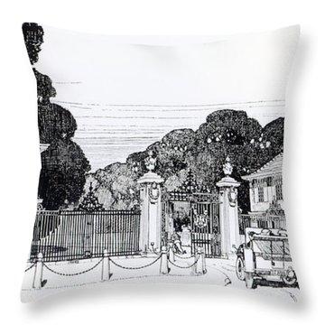 Entrance To Brooklandwood Throw Pillow by Thomas Hayton Mawson