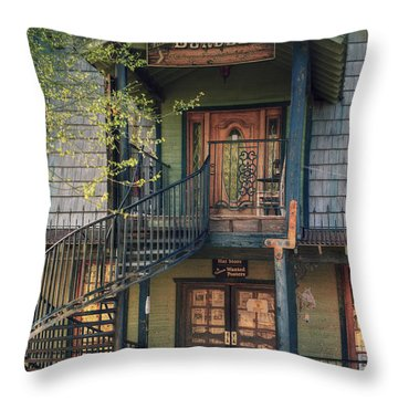 Throw Pillow featuring the photograph Entrance To Lulu's Bordello by Eddie Yerkish