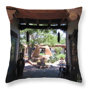 Throw Pillow featuring the photograph Entrance To Market Place by Dora Sofia Caputo Photographic Art and Design