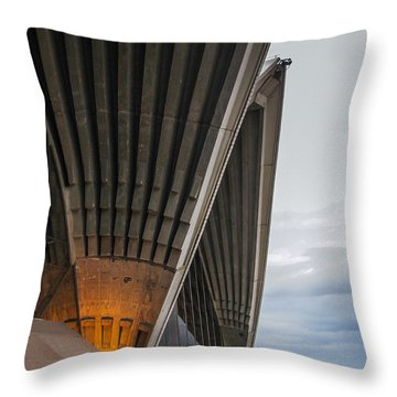 Entrance To Opera House In Sydney Throw Pillow