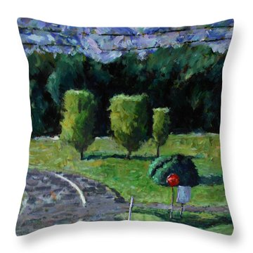 Entrance To Rock Hollow Throw Pillow by Charlie Spear