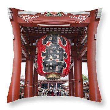 Entrance To Senso-ji Temple Throw Pillow
