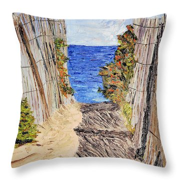 Entrance To Summer Throw Pillow