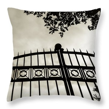 Entrances To Exits - Gates Throw Pillow by Steven Milner