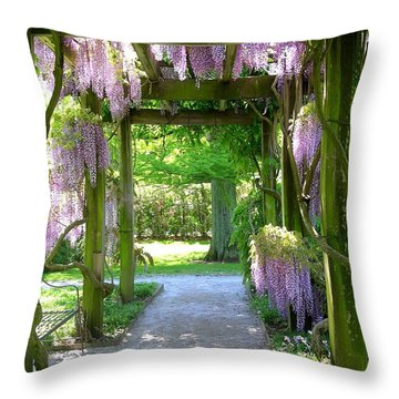 Entranceway To Fantasyland Throw Pillow