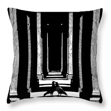 Entre Les Colonnes... Throw Pillow