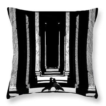 Throw Pillow featuring the photograph Entre Les Colonnes... by Selke Boris