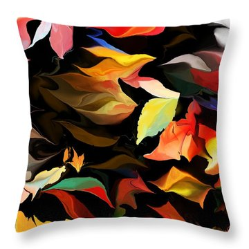 Throw Pillow featuring the digital art Entropic Dance Of The Salamander First Snow.  by David Lane