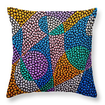 Entropical Evolution Ix Throw Pillow