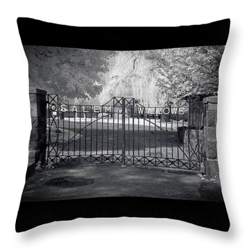 Entry To Salem Willows Throw Pillow by Jeff Folger