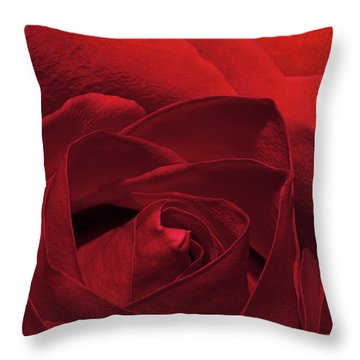 Enveloped In Red Throw Pillow by Phyllis Denton
