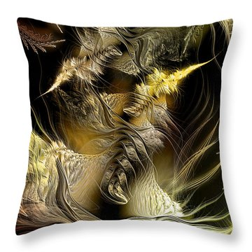 Throw Pillow featuring the digital art Environmental Transitions 5 by Casey Kotas