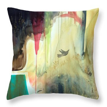 Throw Pillow featuring the painting Envisage by Robin Maria Pedrero