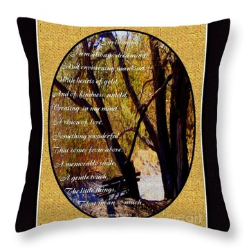 Envisioning Inspirational Throw Pillow