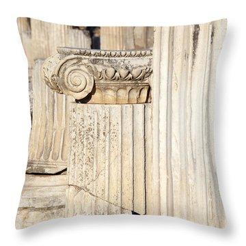 Ephesus Columns Throw Pillow