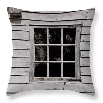 Throw Pillow featuring the photograph Ephrata Cloisters Window by Jacqueline M Lewis