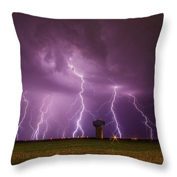 Epic Lightning Throw Pillow