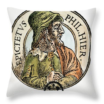 Epictetus Throw Pillow by Granger