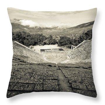Epidavros Theatre Throw Pillow