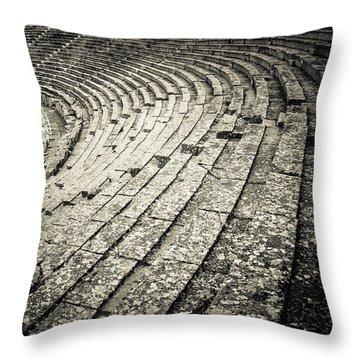 Epidavros Theatre Seats Throw Pillow