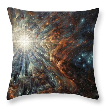 Epiphany In Light Throw Pillow