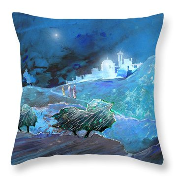 Epiphany Throw Pillow by Miki De Goodaboom