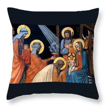 Epiphany Throw Pillow by Munir Alawi