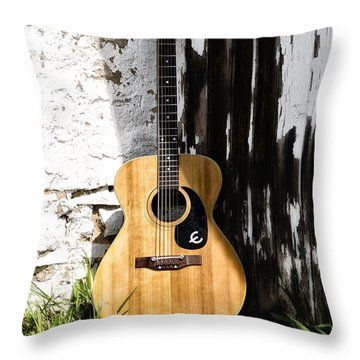 Epiphone Caballero Throw Pillow by Bill Cannon
