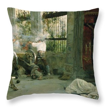 Episode From The War Of Independence, 1892 Oil On Canvas Throw Pillow