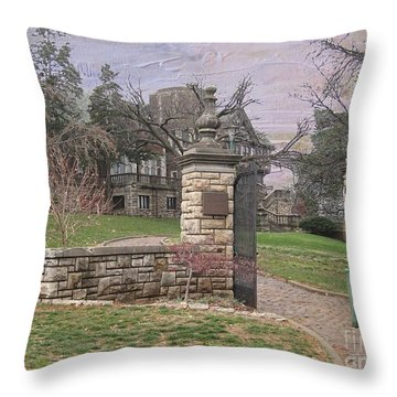 Epperson House House On The Hill Throw Pillow by Liane Wright