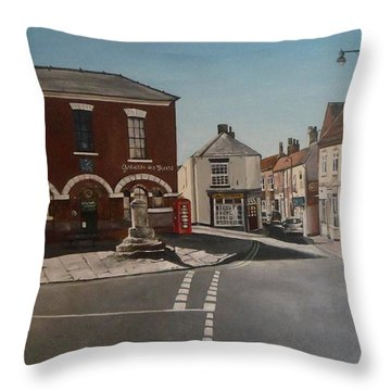 Epworth Cross Throw Pillow by Cherise Foster