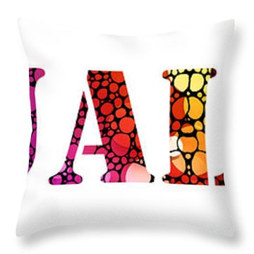 Equality For All 3 - Stone Rock'd Art By Sharon Cummings Throw Pillow