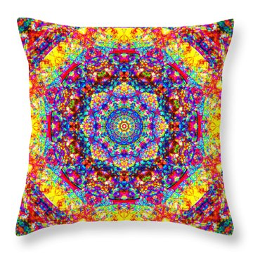 Throw Pillow featuring the painting Equanimity by Jalai Lama