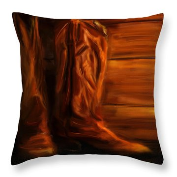 Equestrian Boots Throw Pillow