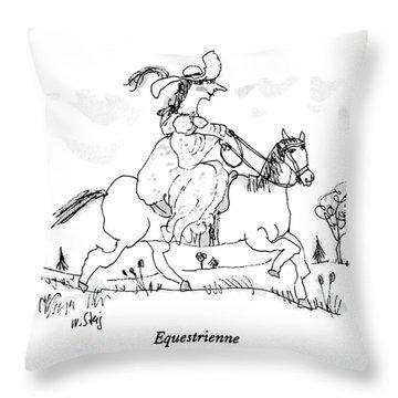 Equestrienne Throw Pillow