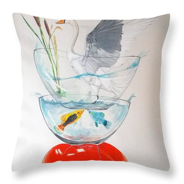 Throw Pillow featuring the painting Equilibrium by Lazaro Hurtado