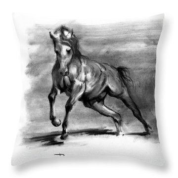 Equine IIi Throw Pillow